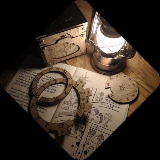 Elixier der Macht Material mit Lampe